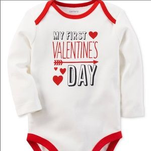 My First Valentine's Day Long Sleeves Onesie NWT